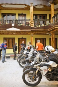 Pleasant  Laos hotel after the first days's ride on this China motorcycle tour