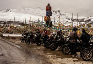 Mountain passes on a motorcycle tour give some of the best photo opportunities for photo of the bike you are riding