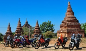 Myanmar motorcycle tours with Motoasia. Travel Thailand to Myanmar, riding through the unique 2000 Pagodas of ancient Bagan with our adventure tour.