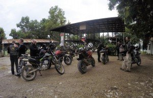 Myanmar motorcycle tour checkpoint