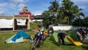 Camping with motorcycles