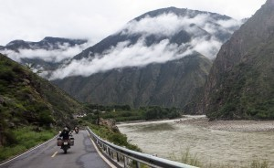 Our China motorcycle tour enjoying the river valley roads