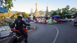 Mae Hong Son on a motorcycle