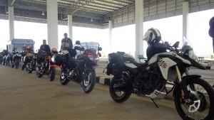 China motorcycle tour entering Laos