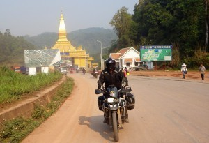 China motorcycle tour leaving Laos