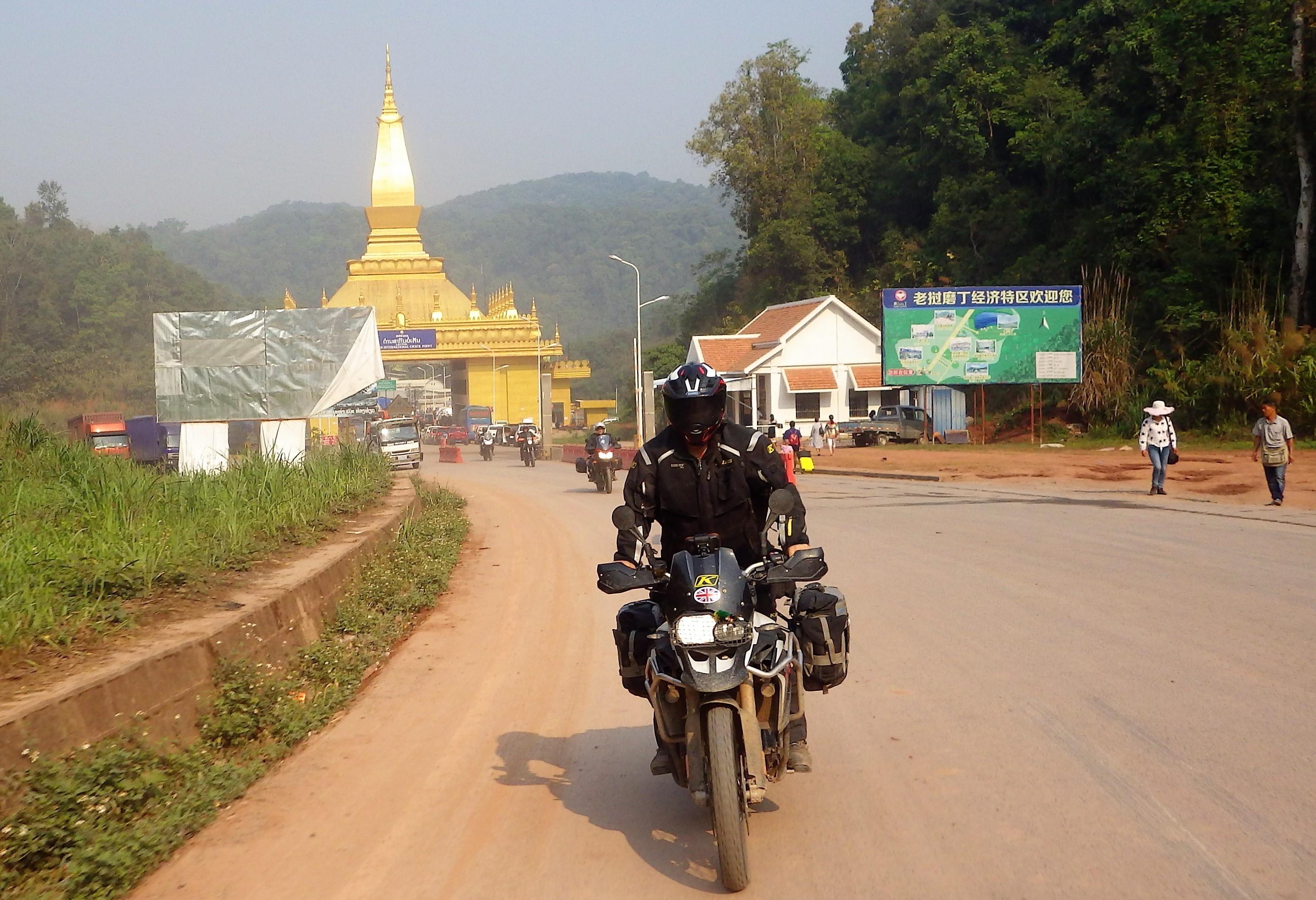 China motorcycle tour leaving Laos
