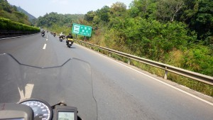 Nice pace headed north, great China motorcycle tour