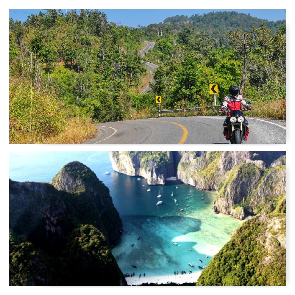 North Thailand 5 day motorcycle tour + 5 day Phuket yacht charter  combined