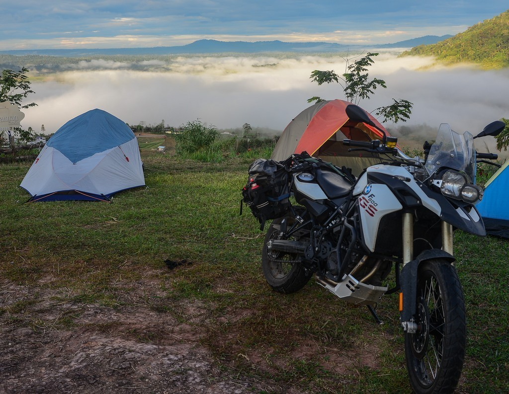 Thailand camping motorcycle tour
