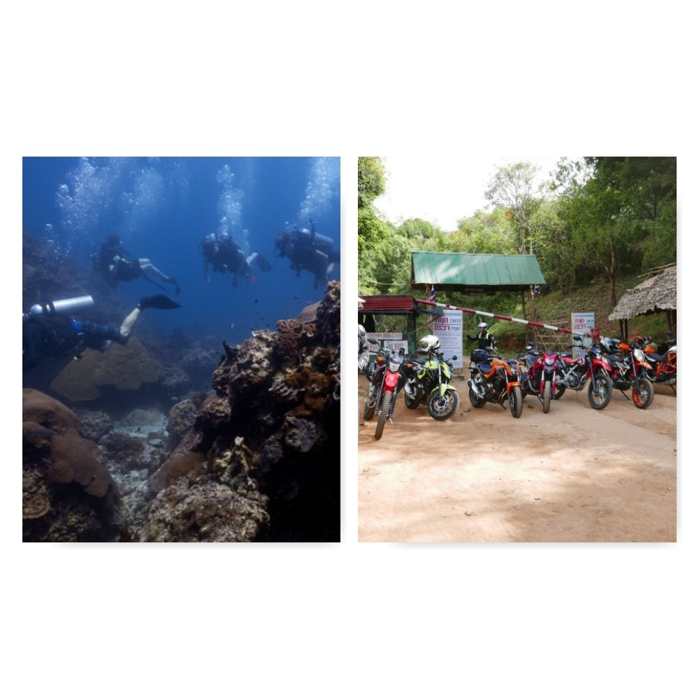 Thailand Motorcycle & Scuba Dive Tour (combined) – 12 nights  from USD$ 2,699